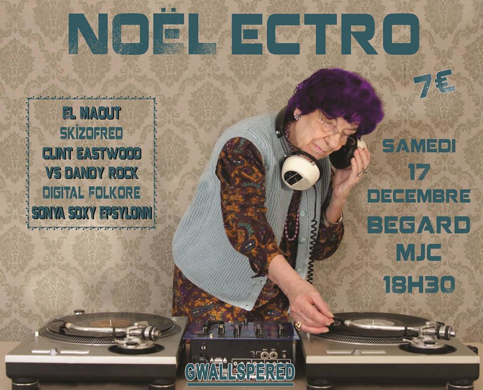 Concert Electro - Samedi 17 Décembre 18h30 - MJC Bégard